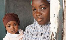 Saidi Abdullai and her 10-month old baby, Basharia. Saidi is a member of the Rahama mother-to-mother support group in Ningi village in Bauchi, Nigeria.