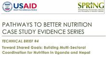 Pathways to Better Nutrition Case Study Evidence Series