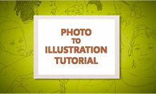 Photo to Illustration Tutorial intro slide
