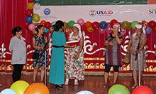 Women participating in a quiz about breastfeeding