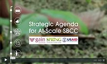 Screen capture of Strategic Agenda for At-Scale SBCC video