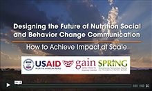 Screen capture of Designing the Future of Nutrition SBCC: How to Achieve Impact at Scale video