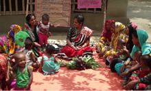 Woman leading a Farmer Nutrition School in Bangladesh