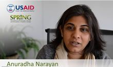 International Women's Day Message from SPRING's Anu Narayan