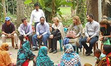 VIP USAID delegation at the new FNS site in Chhota Bahirdia Purbopara in Fakirhat upazila Bagerhat, Khulna - 28 October, 2014