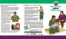 Community IYCF Brochure: How to Breastfeed Your Baby (Pidgin)