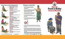 Community IYCF Brochure: How to Feed a Baby After 6 Months