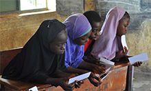 Photo of three girls in school