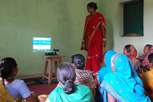 Video dissemination through a self help group